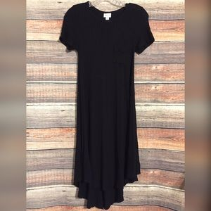 Lularoe black ribbed Carly maxi dress